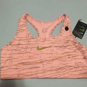 Nike Victory Sports Bra L Dri-Fit Rose Gold